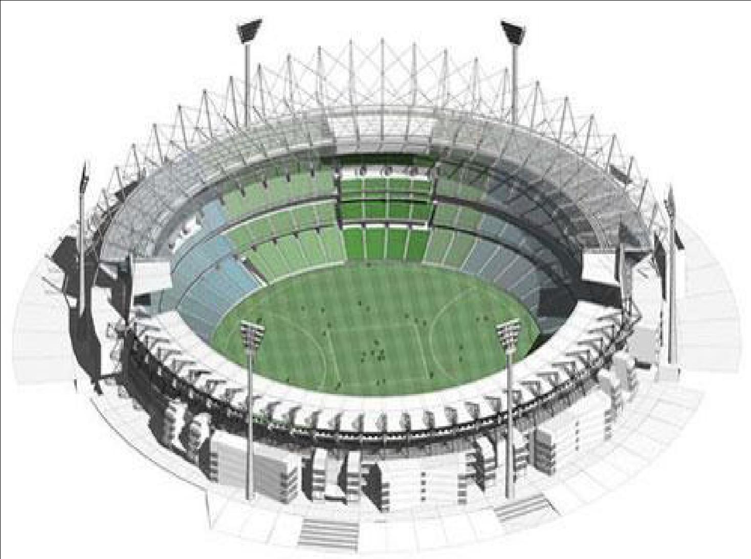 Modeling Stadium internal and external flows